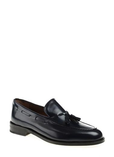 George Hogg %100 Deri Loafer Ayakkabı Lacivert